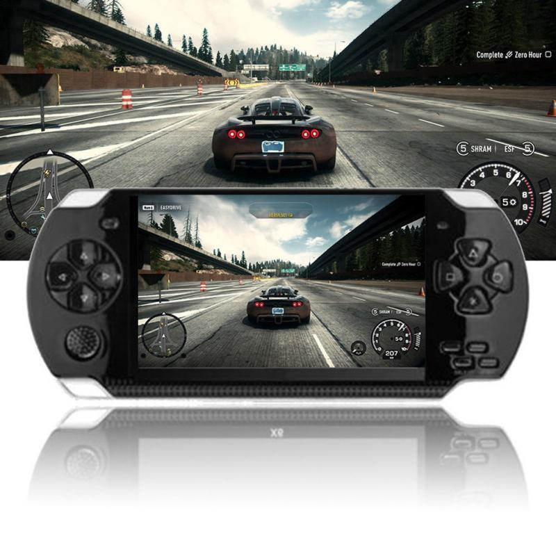 Handheld Game Console 4.3 Inch Screen 8G Easy Operation MP3 MP4 MP5 Player Support for Psp Gaming Camera Video E-Book