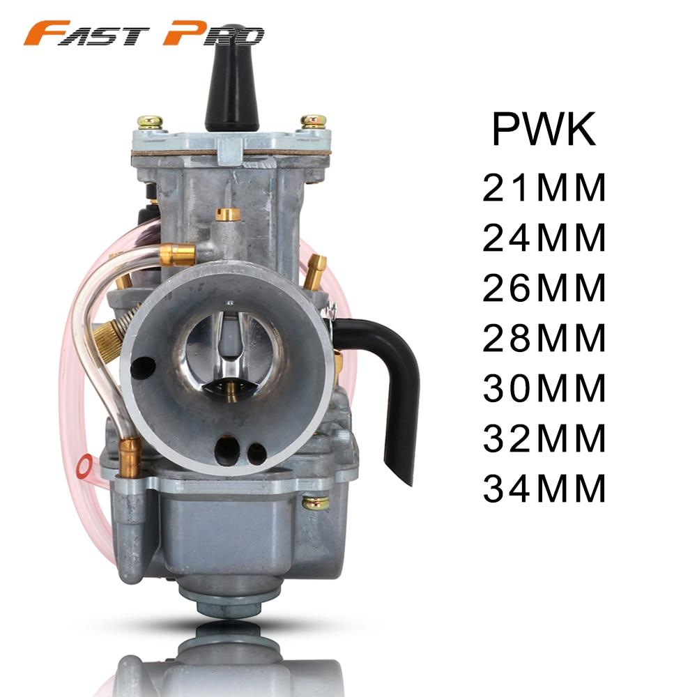 PWK21 PWK 21 24 26 28 30 32 34 MM motor de carrera motocicleta PWK carburador ATV Buggy Quad Go Kart jet moto de tierra ajuste en carreras