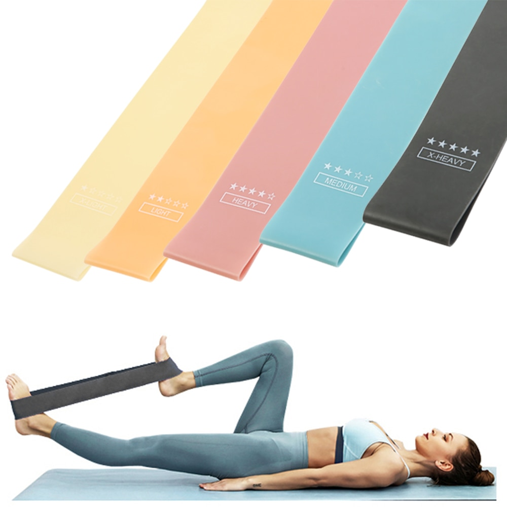 Training Fitness Gum Exercise Gym Strength Resistance Bands Exercise Pilates Sport Rubber Mini Bands Crossfit Workout Equipment