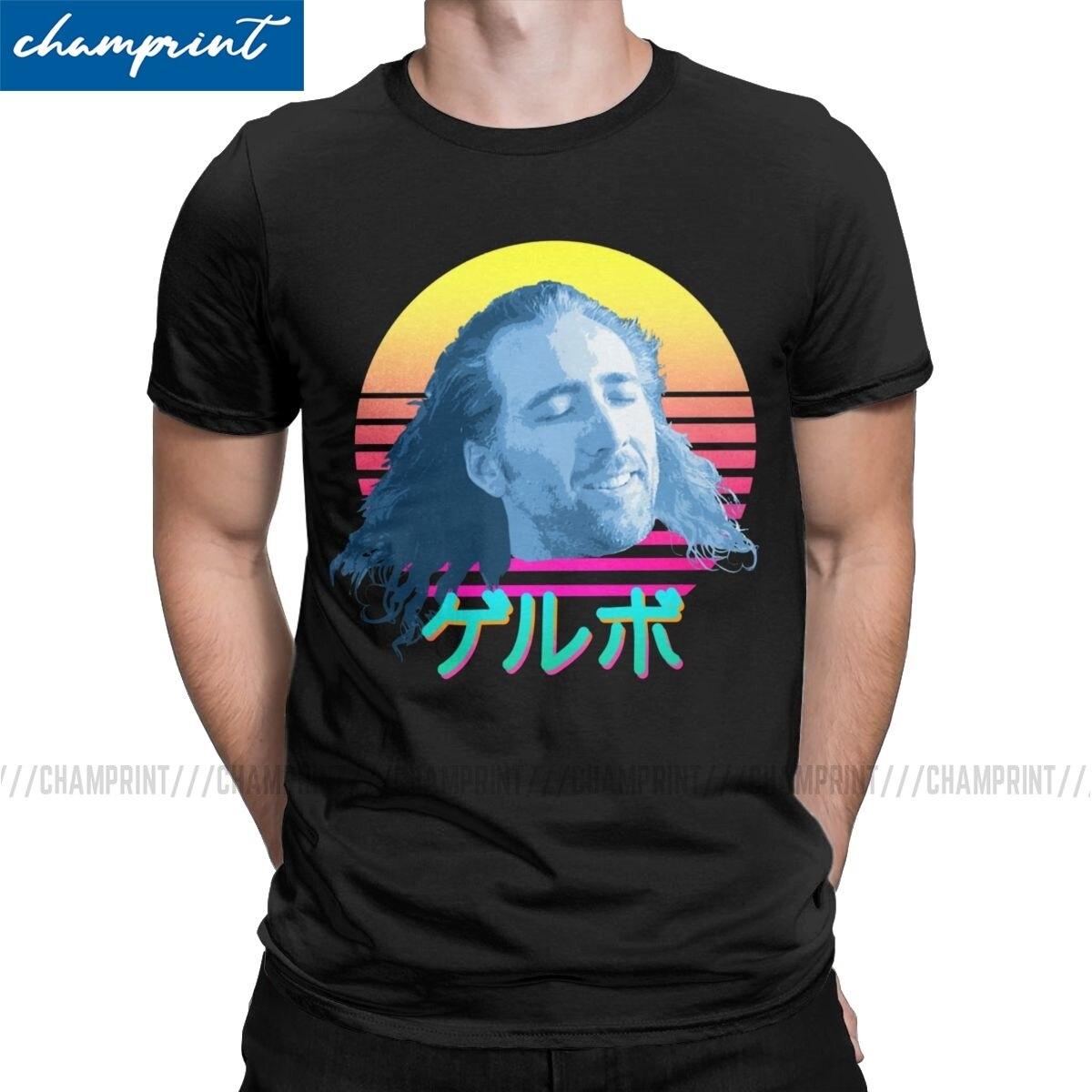 Nicolas Cage Футболка мужская забавная Meme винтажные хлопковые футболки с вырезом лодочкой футболки с коротким рукавом размера плюс одежда