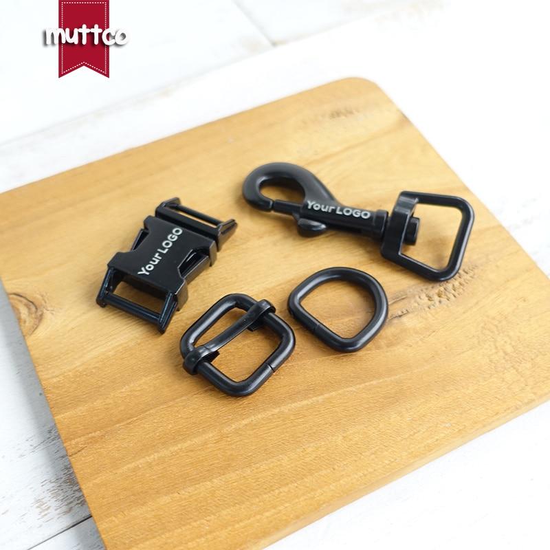 100 unids/lote (hebilla de metal + hebilla de ajuste + anillo D + cierre de perro de metal) accesorio diy de 15,20, 25,30mm 4 colores, ofrecemos grabado láser