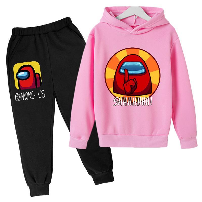 Купить с кэшбэком Baby Clothing Sets Children 4-14Years Birthday suit Boy Tracksuits Kids Sport Suits among us Hoodies Top +Pant 2pcs Set Pullover