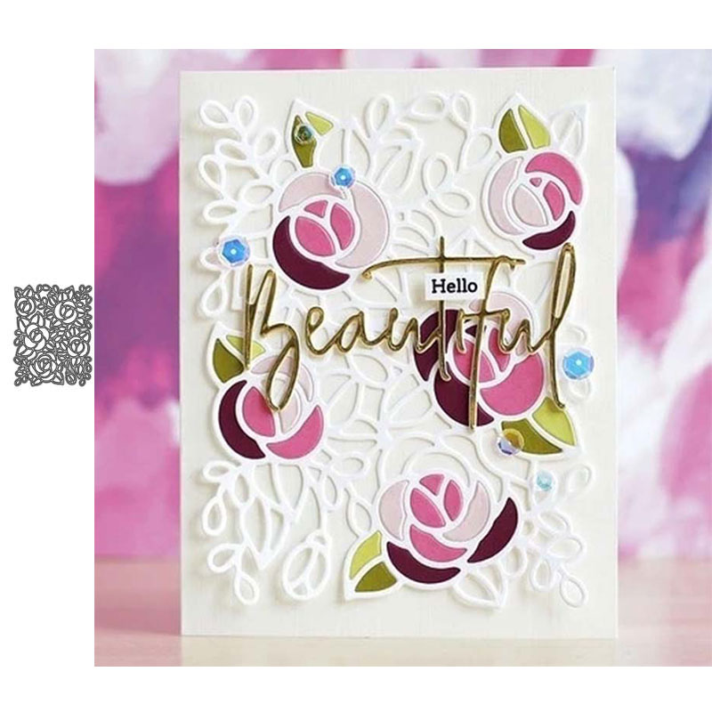 JC Metal Cutting Dies Scrapbooking Flowers Background Stencil Craft Paper Knife Mould Blade Punch Card Make Die Cut 2020 New Die