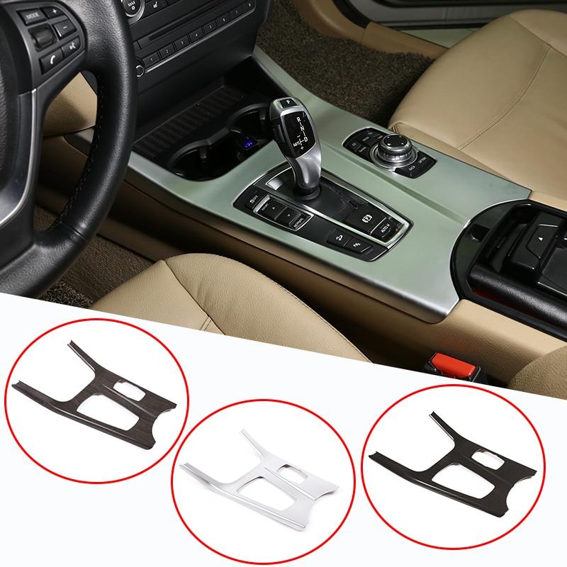 For BMW X3 F25 X4 F26 2011-2017 ABS Chrome Gear Shift Knob Panel Trim Cover Car Accessories