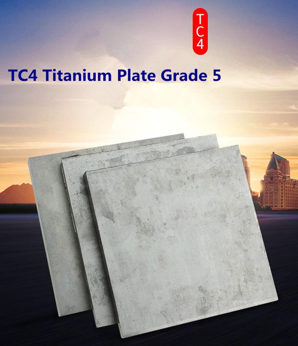 TC4 hoja de titanio 300mm x 130mm x 1mm hoja de titanio bloque grado 5 Placa de Ti Gr.5 gr.5 industria o placa de titanio DIY