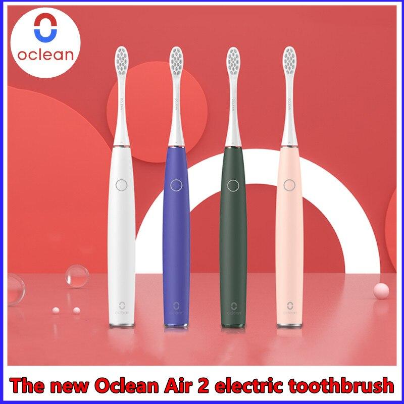 Электрическая зубная щетка Oclean Air 2, умная ультразвуковая Бесшумная, подходит для взрослых, водонепроницаемость IPX7, быстрая зарядка, 3 режима