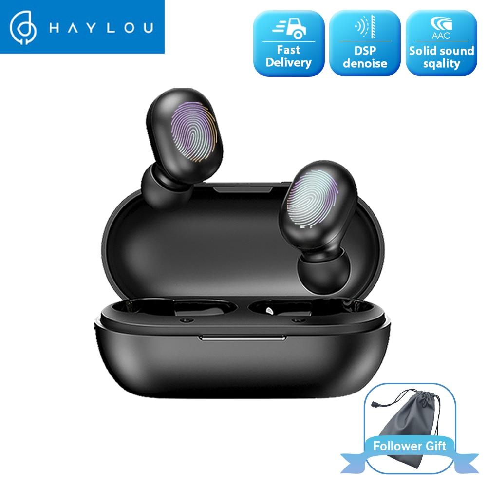 Haylou Gt1 Tws אמיתי אלחוטי Bluetooth אוזניות טביעת אצבע מגע HD סטריאו הפחתת רעש אוזניות