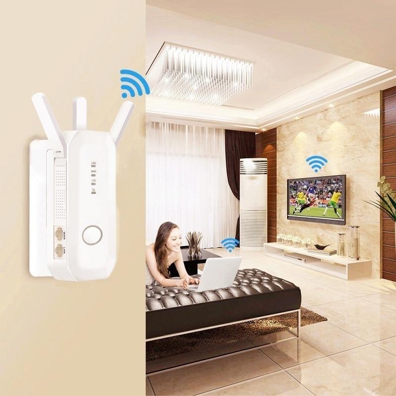 Двухдиапазонный 2,4G/5G AC 750 Мбит/с WiFi ретранслятор Беспроводной маршрутизатор композитные антенны высокошифрование усилитель сигнала MIMO
