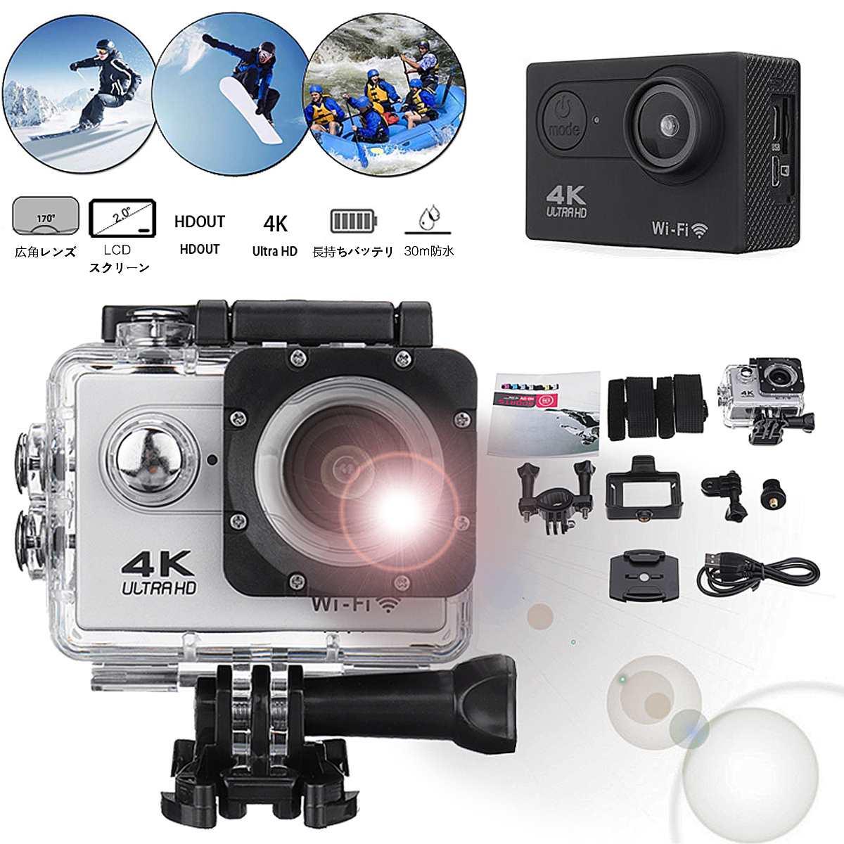Action Camera Ultra HD 4K 30fps Wifi 2.0