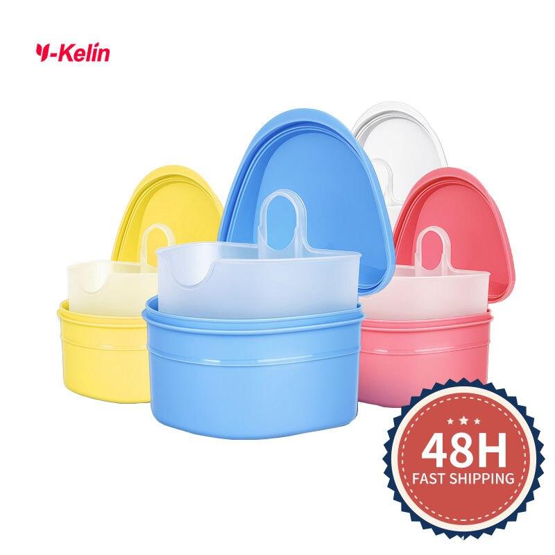 2018 НОВЫЙ Y-kelin коробка для зубного протеза Высокое качество Чехол полных протезов для замачивания контейнер для протеза Ванная коробка 4 цвета бесплатные подарки