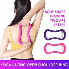 Home Yoga Pilates Ring Stretch Resistance Circle Shoulder Beauty Back Stretch Cervical Spine Rings F