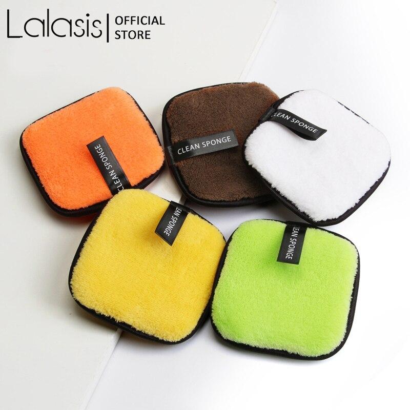 Lalasis-almohadilla removedora de microfibra, almohadillas de algodón para limpiar, de calidad, cuadradas,...