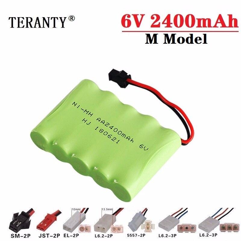 (M Model ) 6v 2400mah NiMH Battery For Rc toys Cars Tanks Robots Boats Guns 6v Rechargeable Battery Ni-MH AA Battery Pack 1Pcs