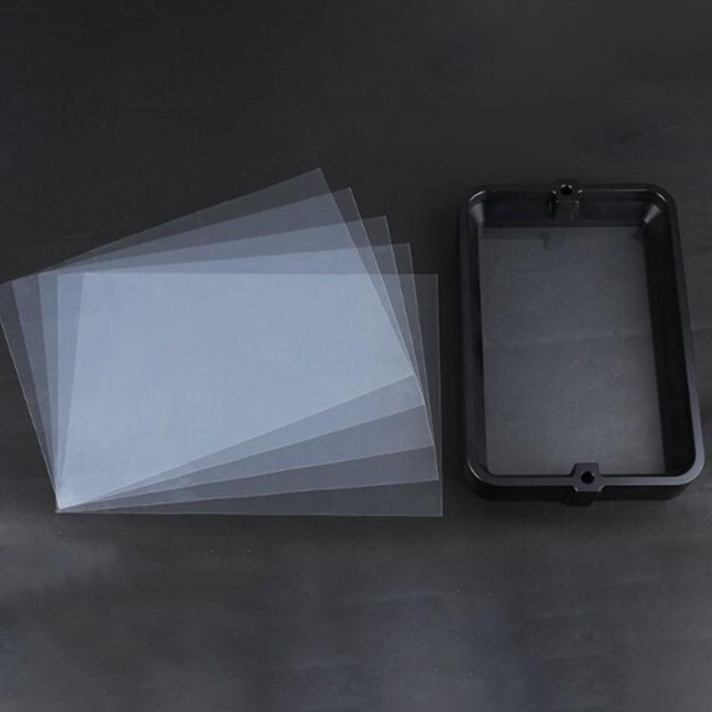 Material Rack negro 178x120Mm con película FEP de 5 uds para DLP SLA wangao D7 3D impresora resina de aluminio anodizado IVA anillo de acero