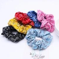 6pcs ring foreign trade cashew flower ponytail bandana large intestine hair band hair bundle hair accessories