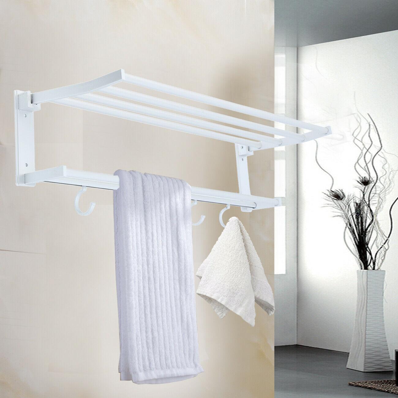 Toallero de baño Honhill, toallero montado en la pared de 2 capas con soporte de 5 filas, accesorios para el hogar para Hotel, perchero para toallas y abrigos