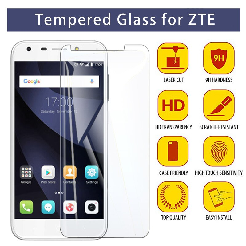 Protetor de tela para lâmina l5 plus l3 l2 l110 9 h hd vidro temperado para lâmina zte a6 a610 a520 a512 a510 a452 a3 vidro protetor