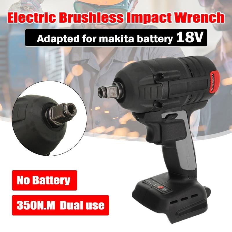 18 فولت 350nm الكهربائية فرش قابلة للشحن تأثير وجع 1/2 المقبس اللاسلكية وجع أداة كهربائية لبطارية ماكيتا