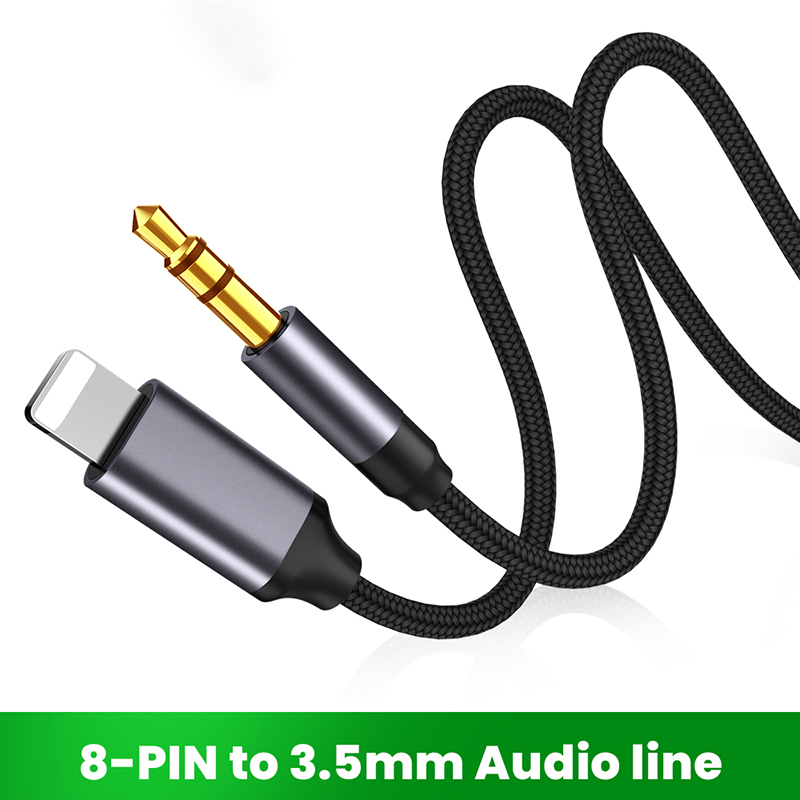 8 Pin To 3.5mm Jack AUX Cable Lighting To AUX Headphone Adapter Audio Extension Kable Connector Splitter For iPhone 13/12/11