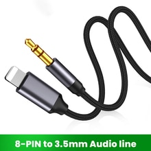 8 Pin To 3.5mm Jack AUX Cable Lighting To AUX Headphone Adapter Audio Extension Kable Connector Spli