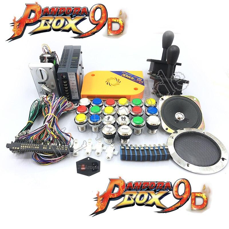 2500 en 1 caja de pandora 9d arcade diy feliz joystick de aceptador de altavoz y red 5v LED buton... jamma cable caja de pandora kit