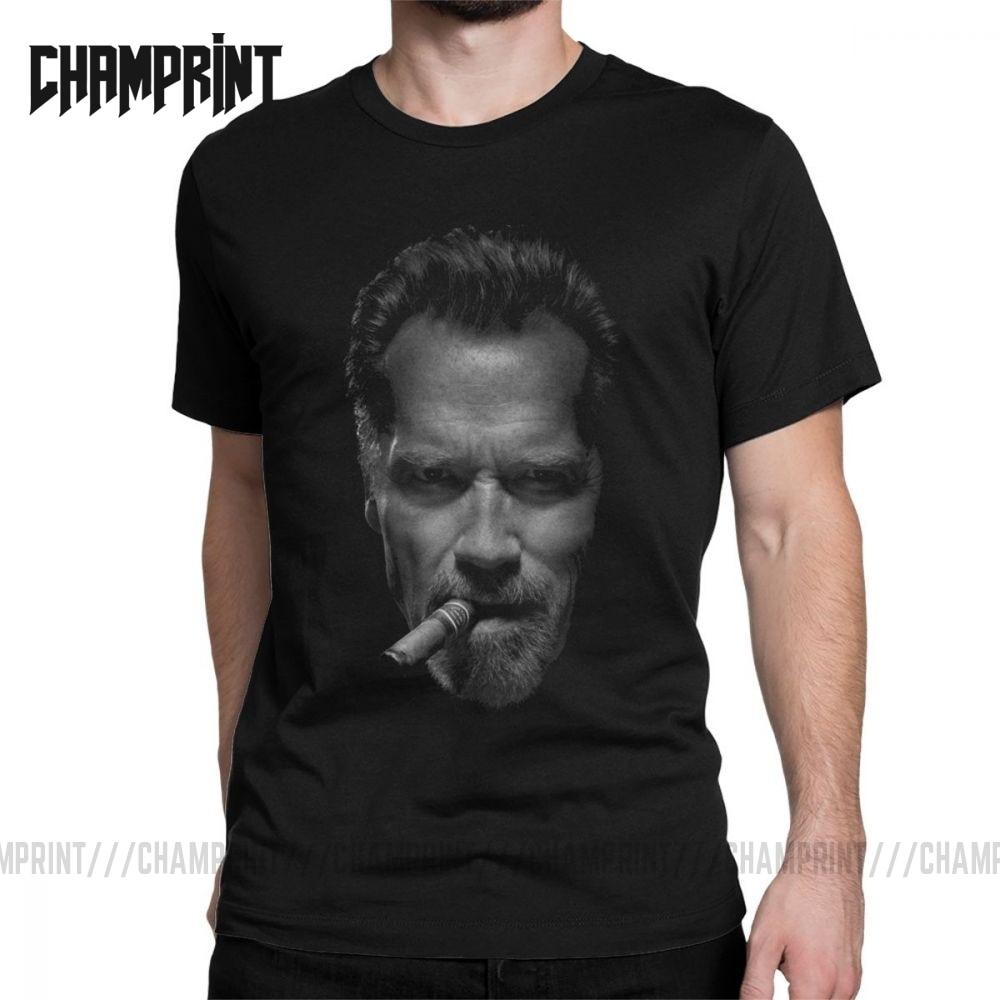 Hombres camisetas Arnold Schwarzenegger Vintage Camiseta de algodón puro Camiseta de manga corta O cuello ropa regalo Idea