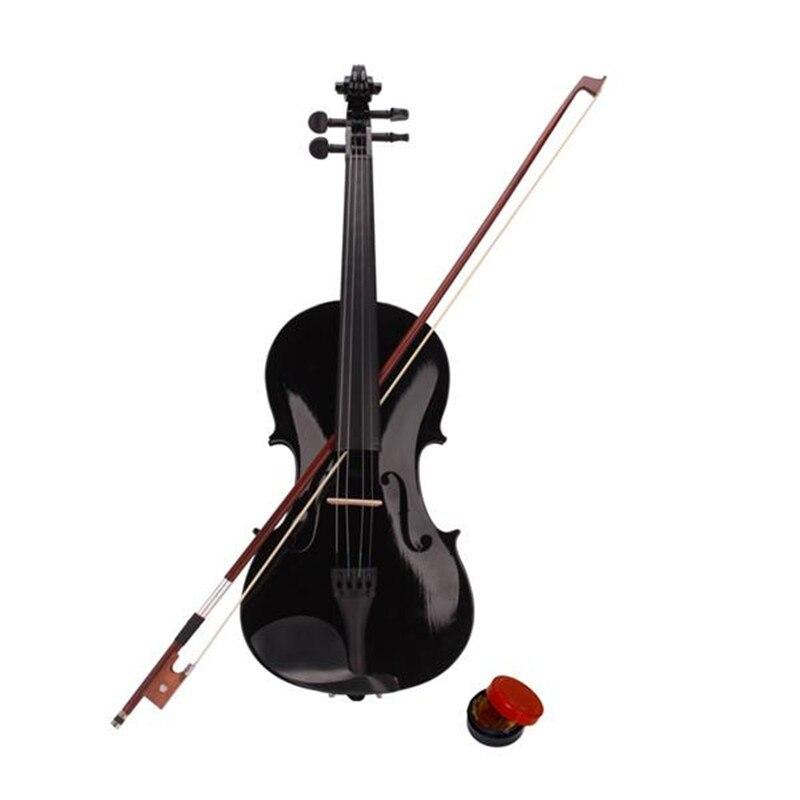 Envío rápido, 4/4, violín acústico Natural de tamaño completo, Violín con funda, arco, colofonia, pegatinas silenciosas, Color negro Natural, envío desde EE. UU.