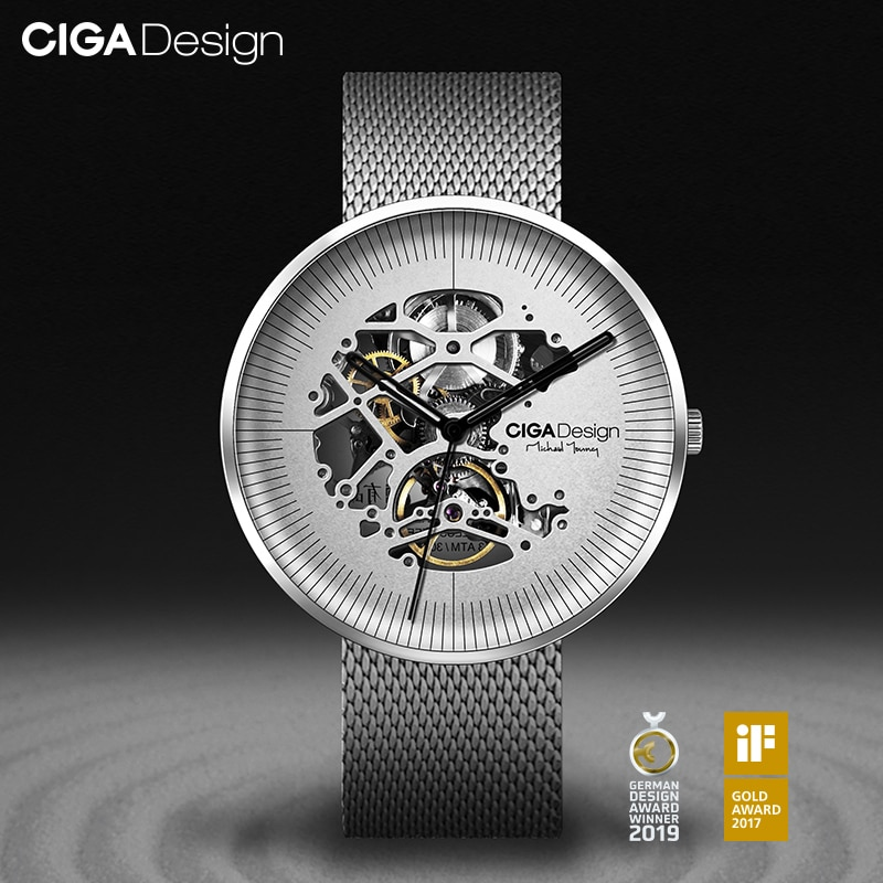 CIGA DESIGN MY Series Stainless Steel Automatic Mechanical Watch Skeleton Leather Strap Wristwatch Hollow Fashion Watch ciga design ciga watch automatic men s mechanical wristwatch watch reddot design award watch luxury automatic watches