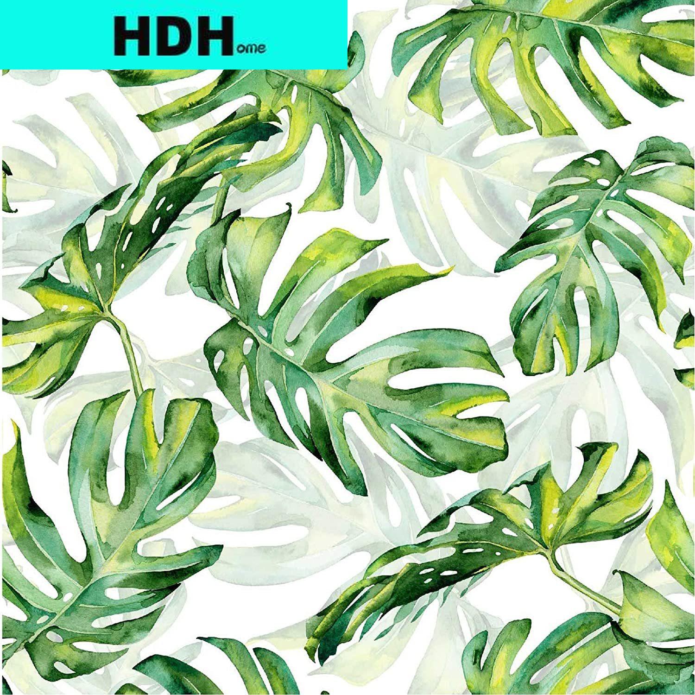 الاستوائية الخضراء ورقة قشر و عصا خلفية أوراق النخيل ذاتية اللصق للإزالة خلفية مقاوم للماء ورق اتصال الزخرفية
