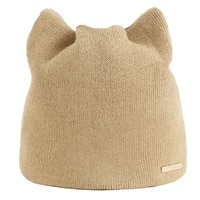 2021 new winter hat cat ear shaped knitted beanie women solid color warm earmuffs hat skullies bonnet caps for men gorras hombre
