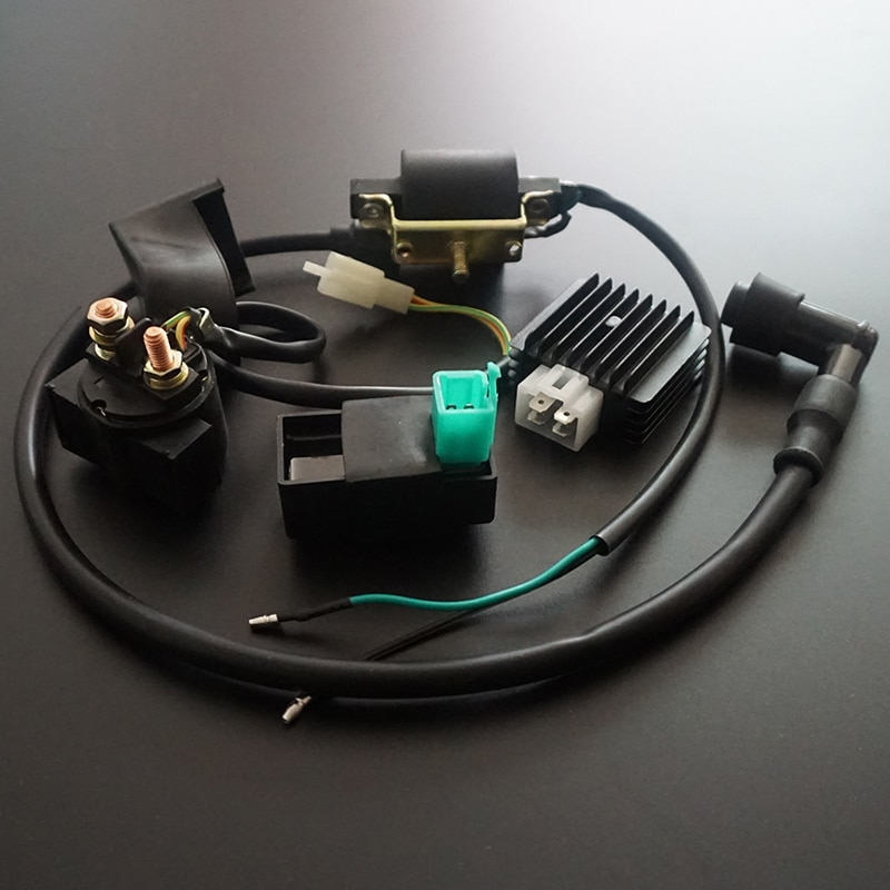 Катушка зажигания CDI, реле регулятора для 50 куб. См, 70 куб. См, 90 куб. См, 110 куб. См, 125 куб. См, Швабра для скутера ATV