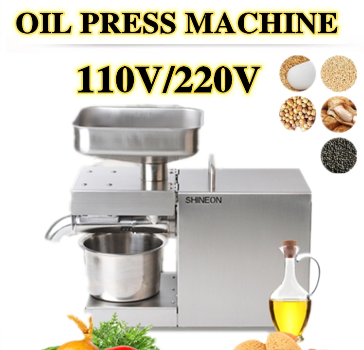 home use stainless steel screw coconut oil presser expeller cold hot press oil machine peanut sesame oil maker 220v or 110v 1500W 110V/220V automatic cold press oil machine, oil cold press machine, sunflower seeds oil extractor, olive oil press	extract