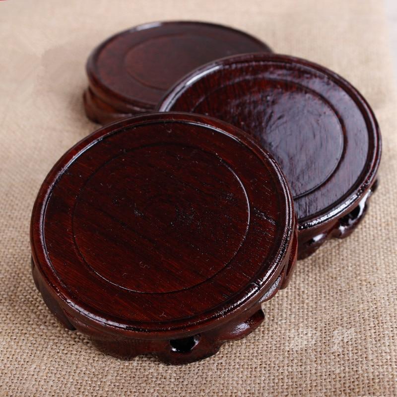 宜興の zisha ポットラウンド木製ベースティーポットマットティーポットホルダーソーサーティーポットベース茶トレイ