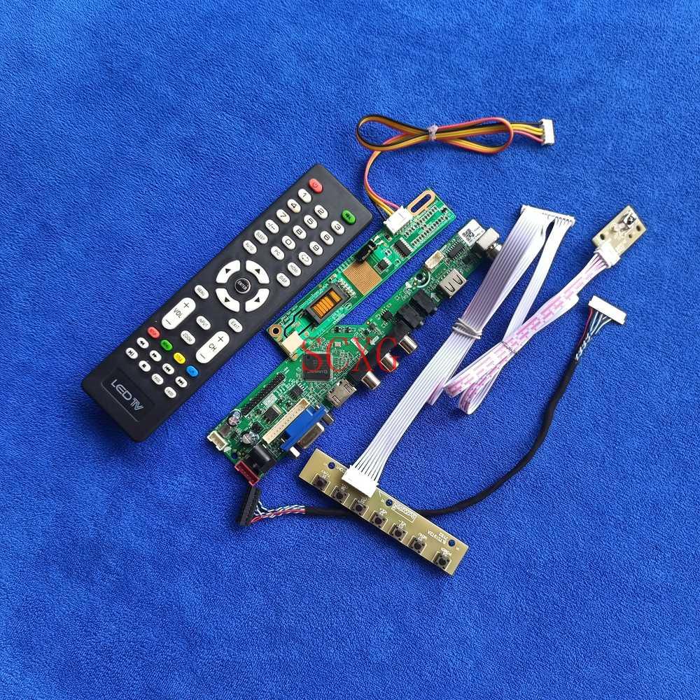 1024*768 شاشات كريستال بلورية لوحة للقيادة ل LTD121LC0S/LTM12C324C/LTM12C324S VGA USB HDMI-متوافق مع KitSignal التناظرية LVDS-20Pin 1CCFL