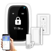 Systeme Alam sans fil wi-fi  application  telecommande  Android IOS  promotion vocale  alarme de securite a domicile  capteur de porte fenetre  bouton SOS