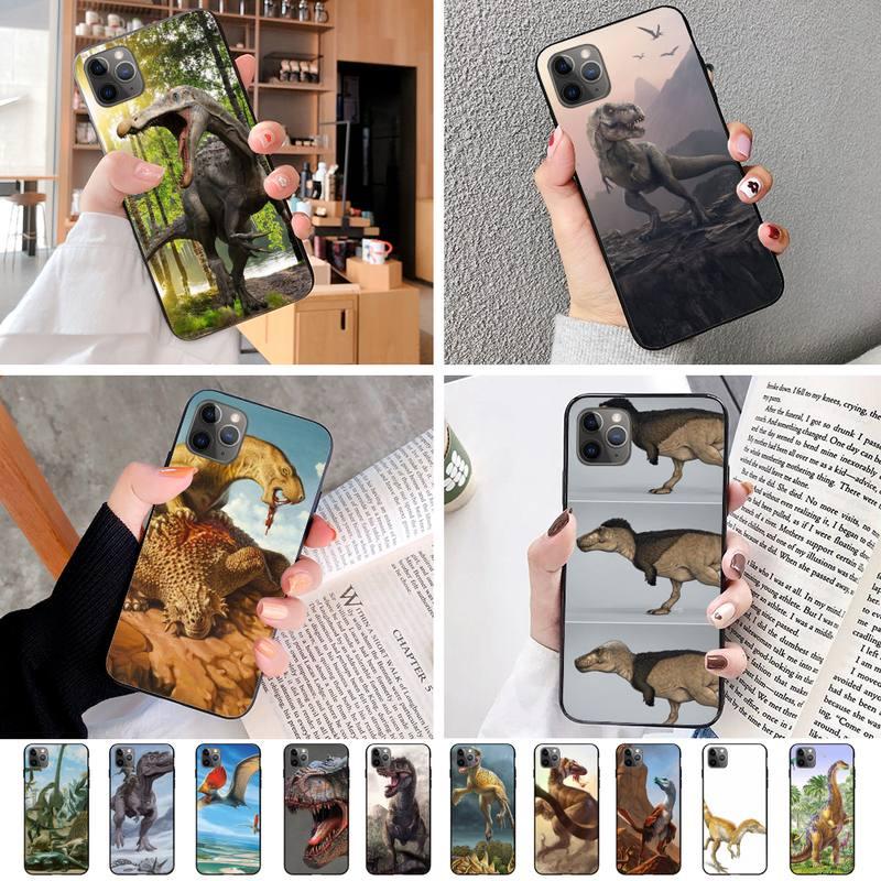 Novedad de 2020, funda de teléfono de dinosaurio feroz para Iphone 11 Pro Max Xr Xs Max 6S 8 7 Plus, accesorios para teléfono móvil