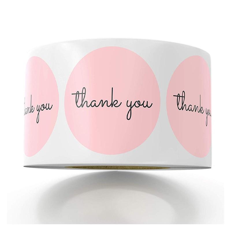 rosa-etichetta-adesivi-di-carta-stagnola-grazie-adesivi-di-nozze-scrapbooking-1inch-50pcs-envelope-seals-fatti-a-mano-di-cancelleria