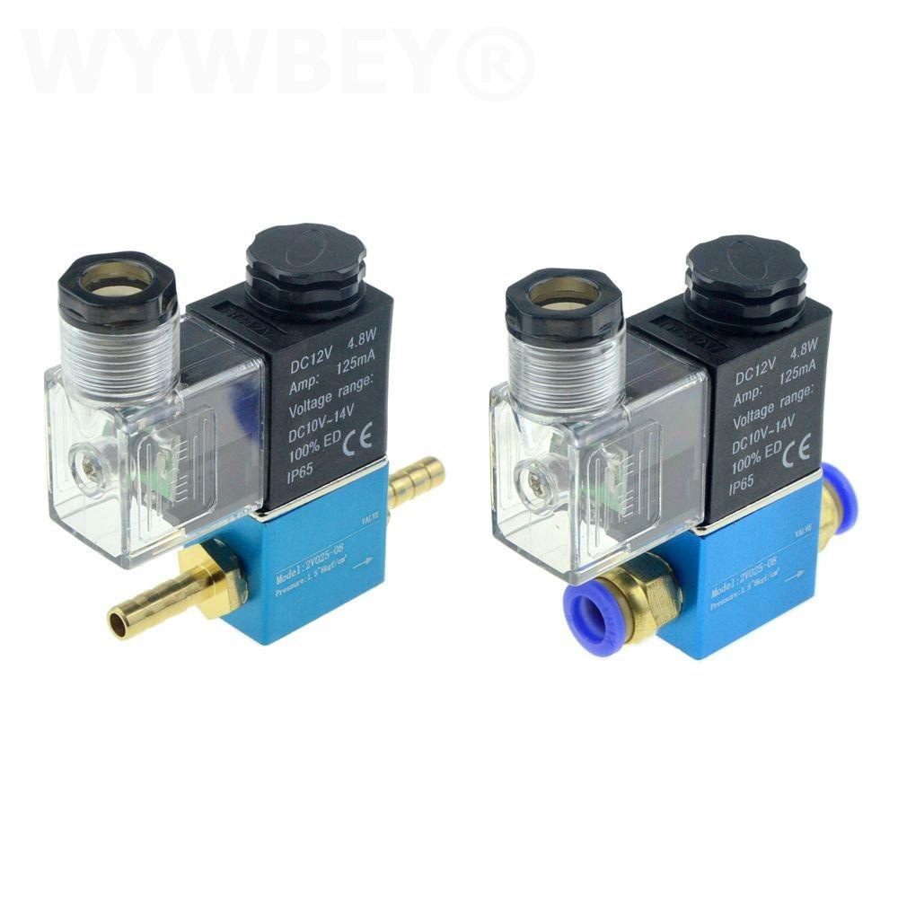 12V 24V 220V Pneumatic Electric Solenoid Valve 2 Position 2 Port Normally Closed Air Magnetic Valve 6mm 8mm Hose Barb Connection