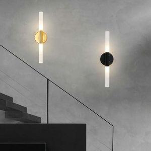 Роскошный настенный светильник в стиле постмодерн для гостиной, лампочка G9, металлический, золотой, черный, для входа в коридор, для телевиз...