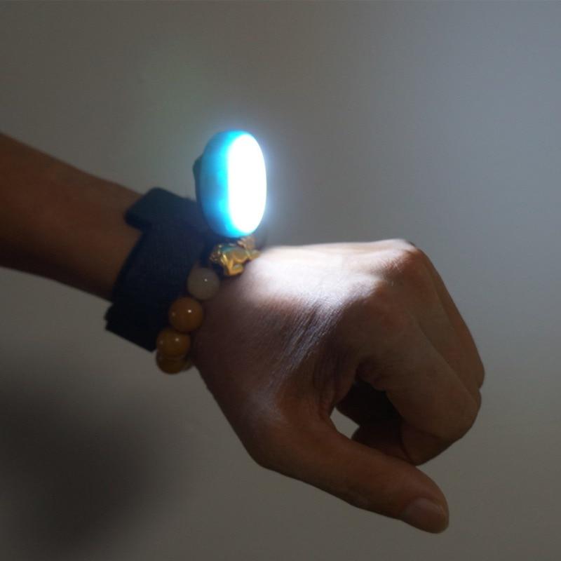 1pcs Portable Cycling Wrist Lamp LED Waterproof Torch Light USB Charging Night Running Wrist Light Flashing Bicycle  PL