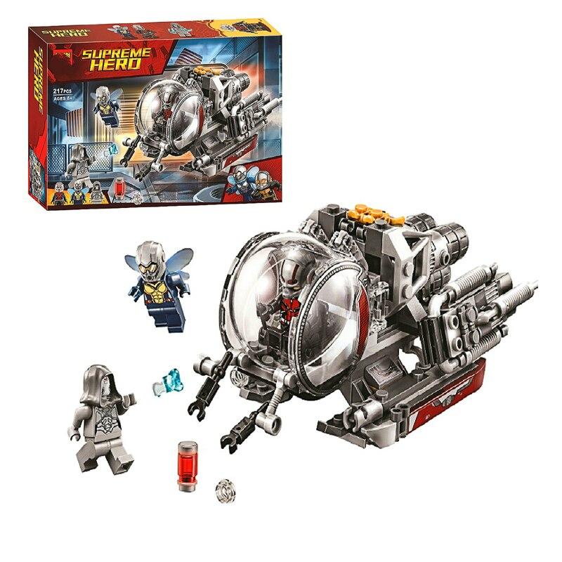 Bloques de construcción en miniatura de 217 Uds. Realm de Ant Quantum-Man, exploración, avispas, bloques de construcción en miniatura compatibles con figuras, regalo para niños