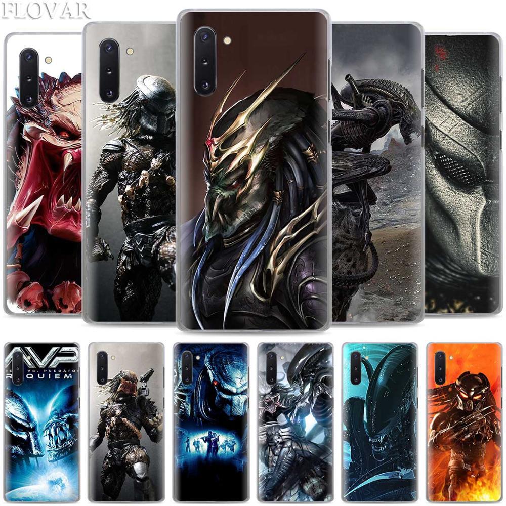 Alien vs Predator etui na Samsung Galaxy uwaga 10 S10 Plus 5G S10e A30 A40 A50 A60 A70 M40 twarda okładka Coque