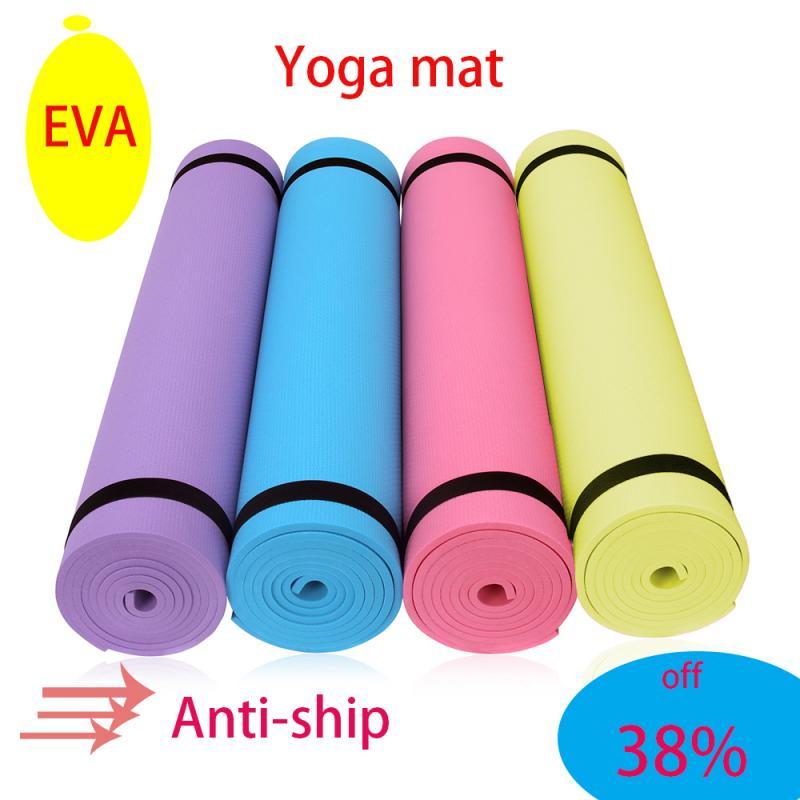 Non-slip EVA Yoga Mats For Fitness Tasteless Pilates Picnic Camping Straps Gym Fitness Exercise Pads Carpet with Bandages