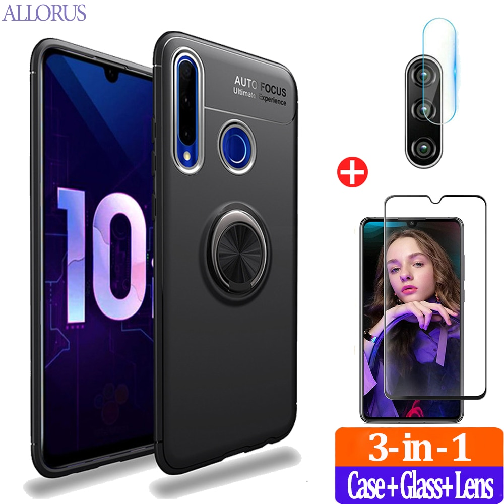 Magnetic Ring Kickstand Cases Honor 20 Lite Russia Case Soft Silicone Cover For Huawei P30 Light Honor 10 i 20 Pro Phone Case