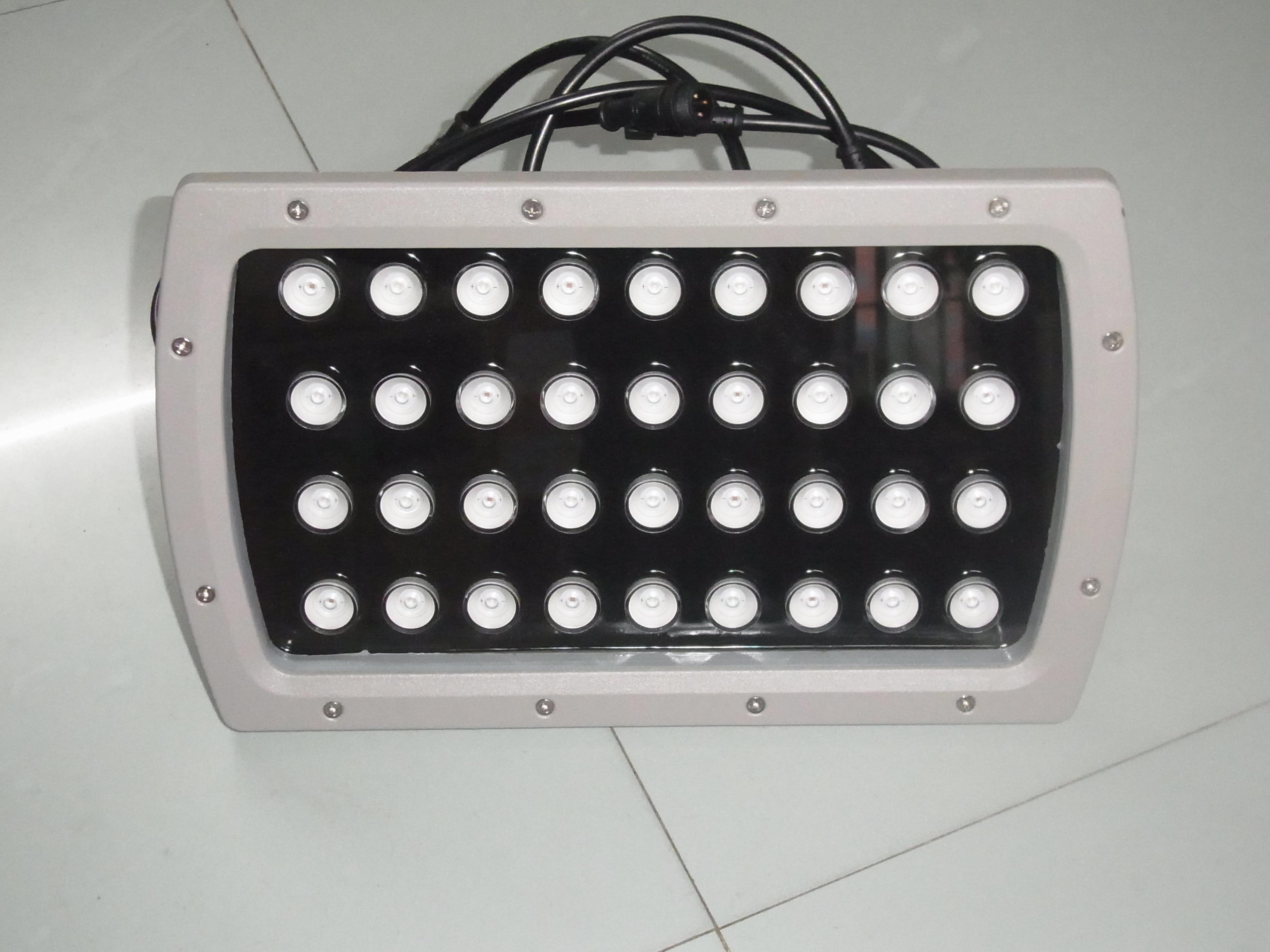 Conexión rápida 36W LED reflector IP66 RGB a todo color jardín paisaje luces 24V 110V 220V DMX512 al aire libre led foco