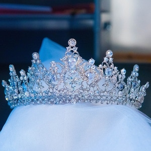 Baroque Royal Queen Crowns and Tiaras for Women,Crystal Rhinestone Costume Party Festival Wedding Tiaras Headbands
