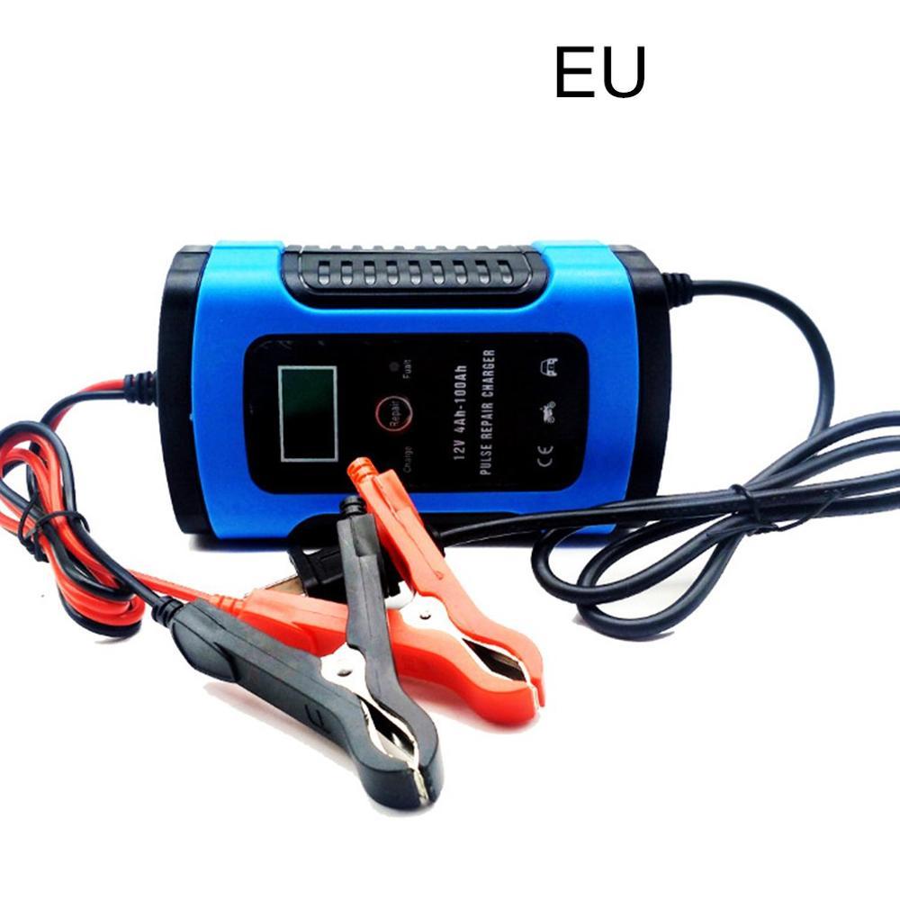 12 v 6a motocicleta carregador de bateria carregador de carro totalmente inteligente reparação universal carregador de armazenamento ácido chumbo