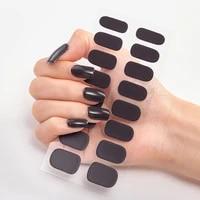 nail novidades designer nail decals pure solid color decals plain stickers nail accesoires nail decoration women salon