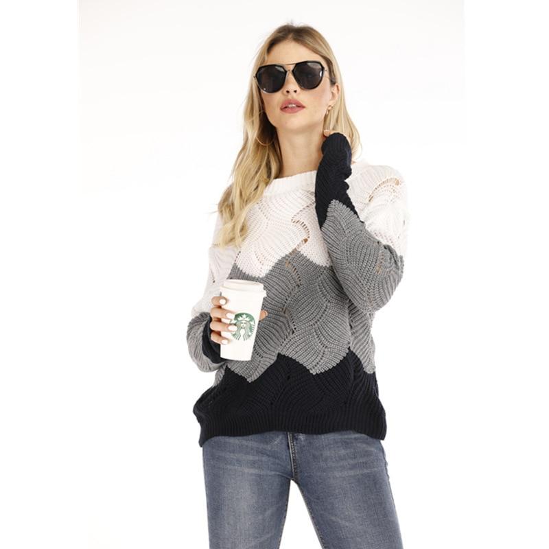 Traje de diario OWLPRINCESS 2019 invierno nuevo suéter de punto suelto de las mujeres cuántos suéteres