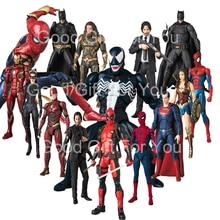 Mafex John Wick figurine venin Superman merveille femme Flash Aquaman fer homme Deadpool Batman figurine